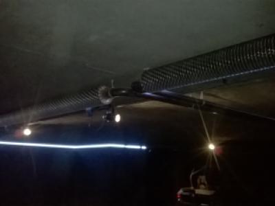 plaatsen van ribbenbuizen ondergrondse parking